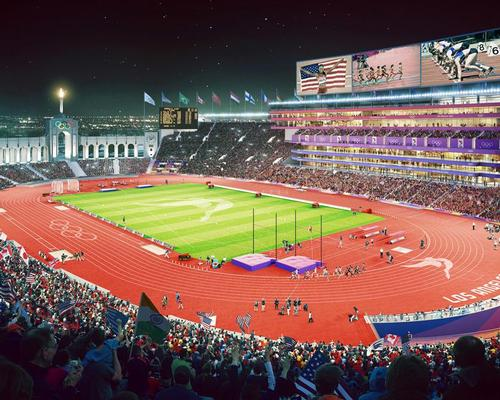 The stadium will be upgraded with new sports and training facilities, as well as a removable track