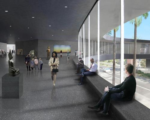 The main exhibition level will provide a new home for LACMA's permanent collection of art / LACMA