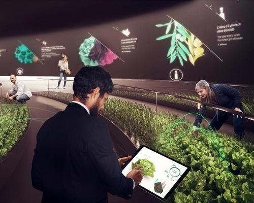 Visitors to the circular pavilion will be guided to a large-scale vegetable garden where they can plant their own organic crops / Carlo Ratti Associati