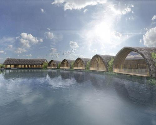 The spa is designed to bring guests closer to nature / Vo Trong Nghia Architects