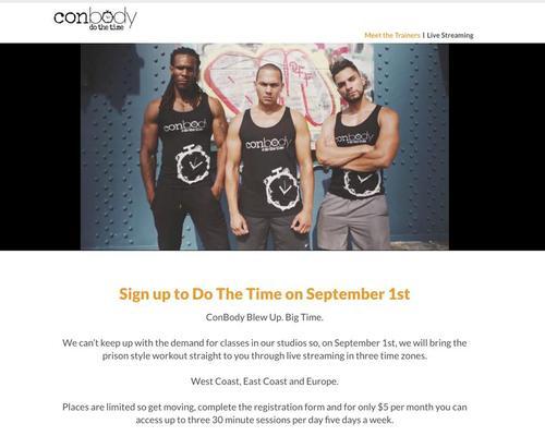 Ex-convict to stream 'prison-style boot camp' fitness classes