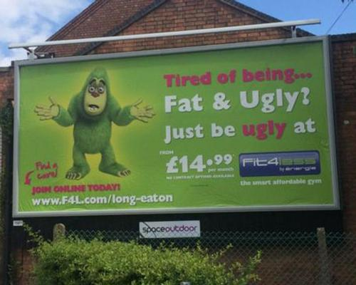 Fit4Less defends billboard poster