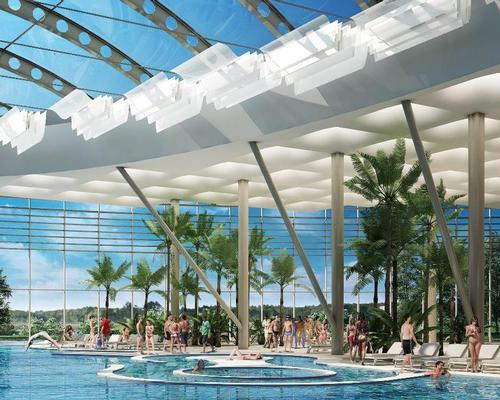 The waterpark will include large translucent domes overhead to allow sunlight in while keeping the -16.7ºC (1.94ºF) temperatures out