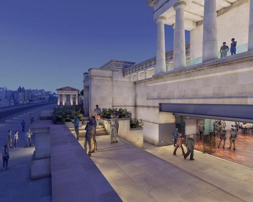 Changes to the building's exterior would be minimal / Royal High School Preservation Trust