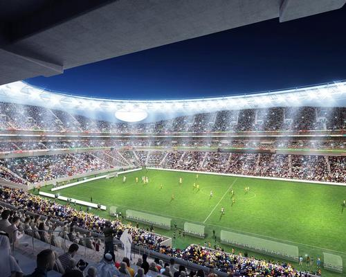 The FIFA-compliant ground will be the largest in the UAE / Perkins + Will