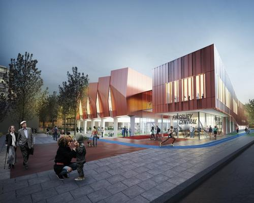 The leisure centre will be surrounded by a running track / Pollard Thomas Edwards Architects
