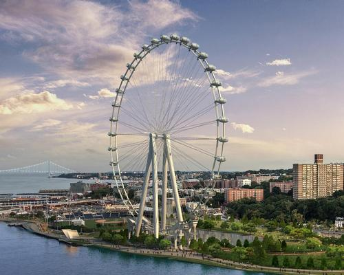 The New York Wheel is being developed by engineering firm Starneth