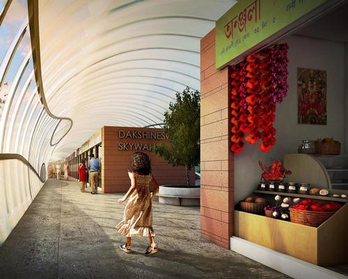 Shops for 200 retailers will line the walkway / Design Forum International