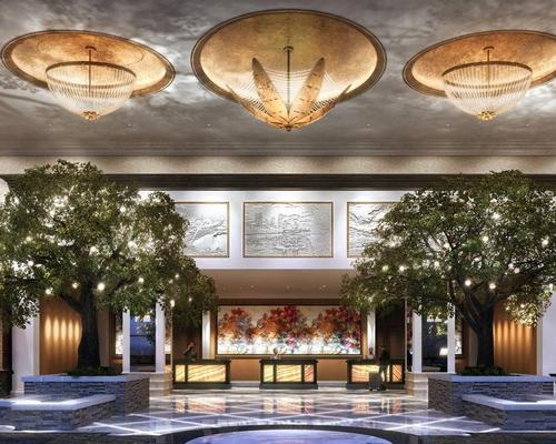 The concept for the Fairmont's design is 'a park in a hotel' / Fairmont