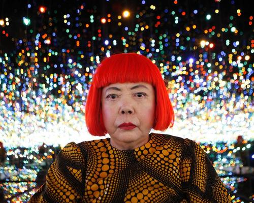 Labelled as one of Japan's most important living artists, Kusama uses a psychedelic style across a wide variety of mediums
