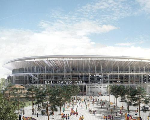 Amenities usually found indoors will be brought onto an outdoor concourse / FC Barcelona