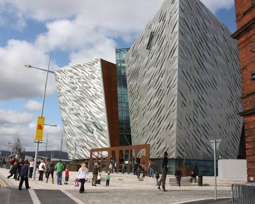 The competition challenges architects to design a pavilion which would work in a busy location, such as outside the Titanic building in Belfast / Wiki Commons