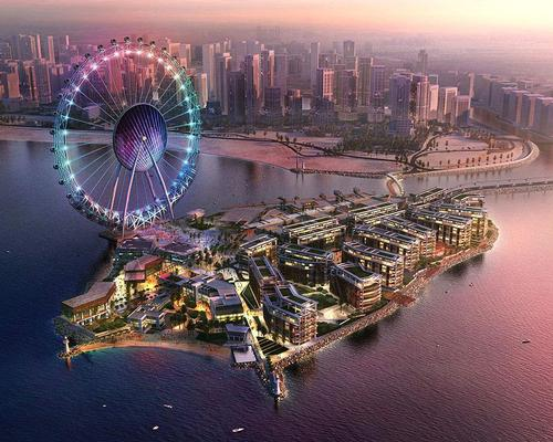 The wheel will be the centepeice of the Bluewaters Island entertainment district / Meraas