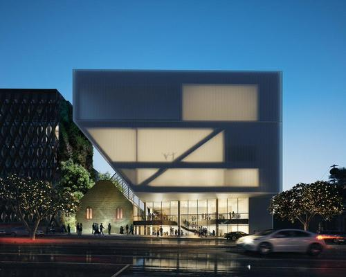 Hassell are revamping the facade and interior facilities of the 35-year old Geelong Performing Arts Centre / Hassell
