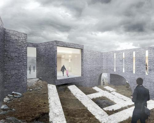 The form of the building is inspired by the surviving stone structures on St Kilda / Dualchas / RRA