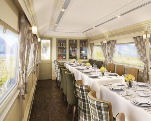 James Park Associates have designed the guest rooms and dining carriages / Belmond