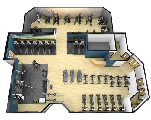 The fitness suite that will boast 60 stations of Pulse's Series 3 cardio equipment