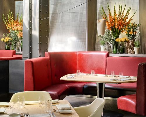 The red upholsteries were inspired by red chilli peppers / Eneko at One Aldwych