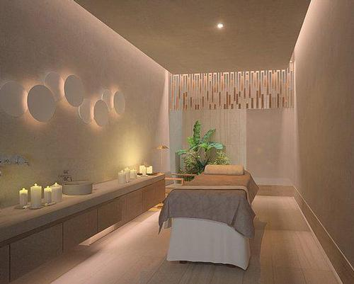 The spa will include 16 treatment rooms, some with a water view, as well as a bridal suite