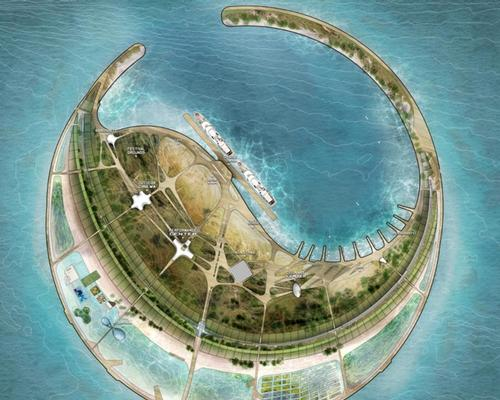 The island will feature hotels, resorts, a theme park, a yacht harbour and a cruise ship port