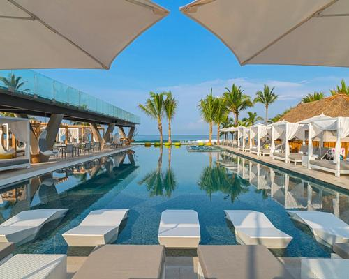 The hotel also features an extensive wet deck with lounge chairs, VIP cabanas and DJ booth
