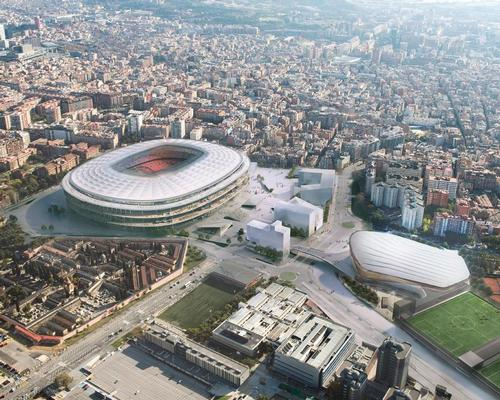 The Espai Barça project will create a pedestrianised, landscaped boulevard surrounding the club's famous Camp Nou stadium / FC Barcelona
