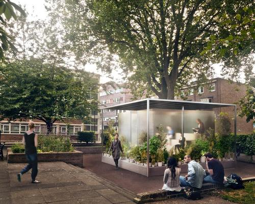 The forests have been designed to explore the merging of public and private spaces / MINI Living