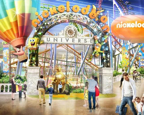 The 35,000sq m (370,000sq ft) amusement park will feature a number of rides based on iconic Nickelodeon brands