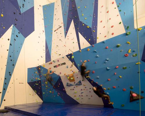 A huge climbing wall is one of the attractions offered in the centre / Soren Harder
