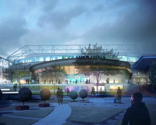 ox Architecture studio, who originally designed the arena, and contractor and developer Lend Lease, will oversee the project / Melbourne Olympic Parks