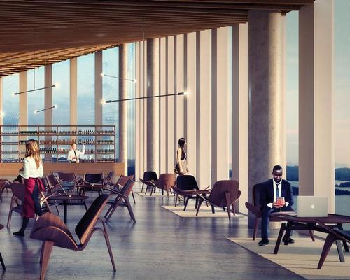 Restaurants, cafes and public spaces will feature in the tower / Schmidt Hammer Lassen Architects