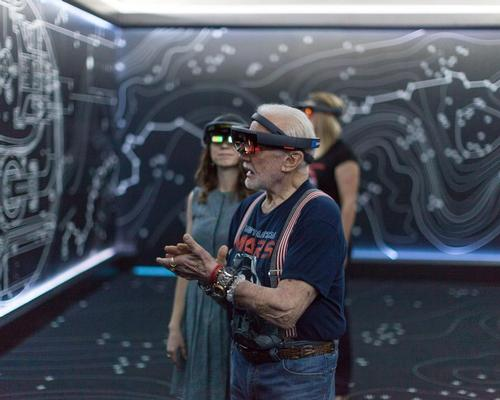 Buzz Aldrin experiences the power of Microsoft's Hololens in Destination: Mars / NASA