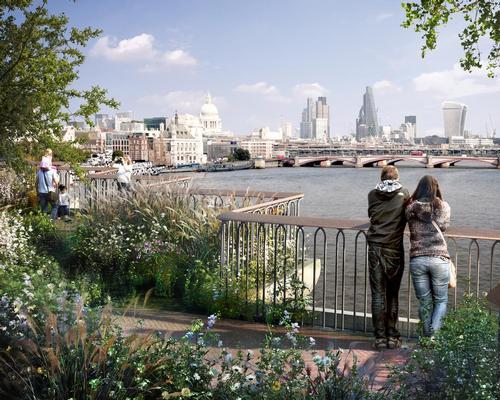 Construction on the Garden Bridge will not now take place until next year / Garden Bridge Trust