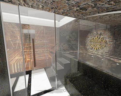 The spa area is designed to create a sense of history / Studio Apostoli