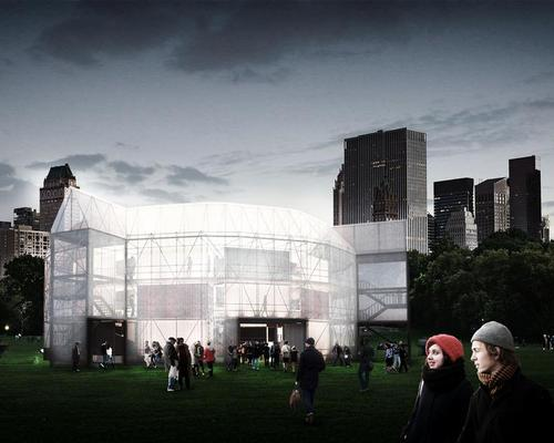 The New York office of multidisciplinary firm Arup are working on the acoustics, lighting, disability, fire, and theatre design aspects of the project / The Container Globe