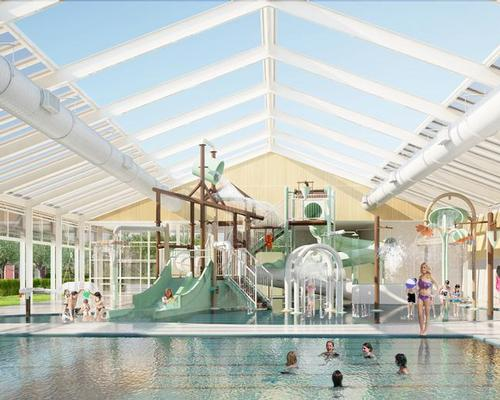 Dutch holiday park looks to lengthen the season by building transparent pool building with retractable roof and walls