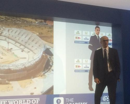 Martinez reveals images of the stadium's current state for Soccerex delegates