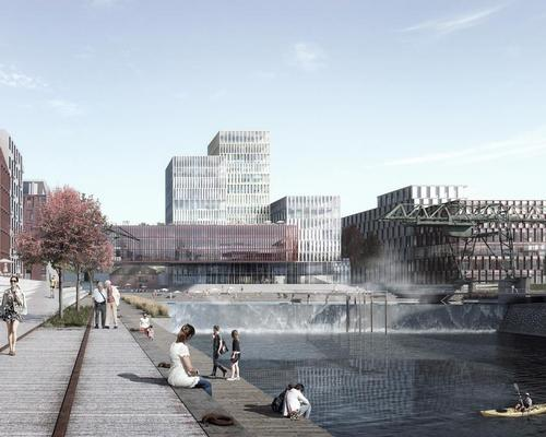 COBE's pool will collect rainwater and waste heat from the district and becomes a new attraction in the city / COBE/Beauty and the Bit