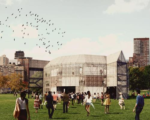 Shakespeare's Globe may be recreated using shipping containers / Container Globe