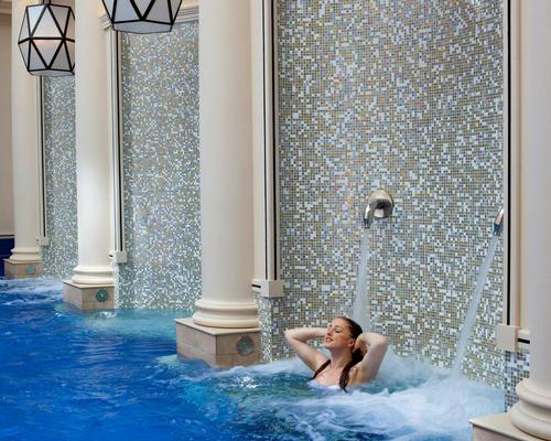 The Spa Village is described as a modern-day Roman Bath circuit, in which guests can wander from one room to another and take the waters in luxury