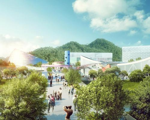 The complex will meet the rising demand for sports and fitness facilities while departing from the Olympic-sized arenas popular in the region / MVRDV