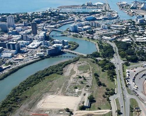 The stadium will be built by the waterside in Townsville, close to the city's central business district / Townsville City Council