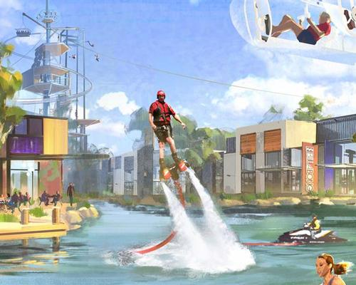 The lifestyle destination combines a waterpark with active lifestyle entertainment