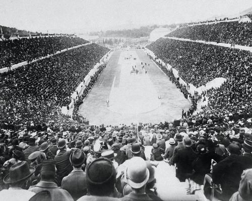 The exhibition examines what we can learn from the Olympic stadiums of the past