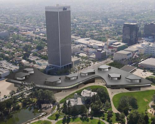 The project will see four of LACMA's deteriorating structures replaced by the new Zumthor-designed building, which will house the museum's permanent collection of historic and contemporary art / LACMA