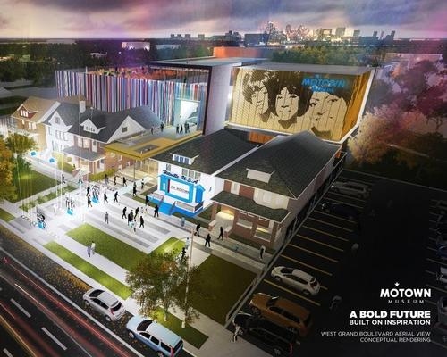 Perkins + Will, will lead the execution of the museum masterplan, with Detroit-based Hamilton Anderson Associates acting as architect of record / Motown Museum