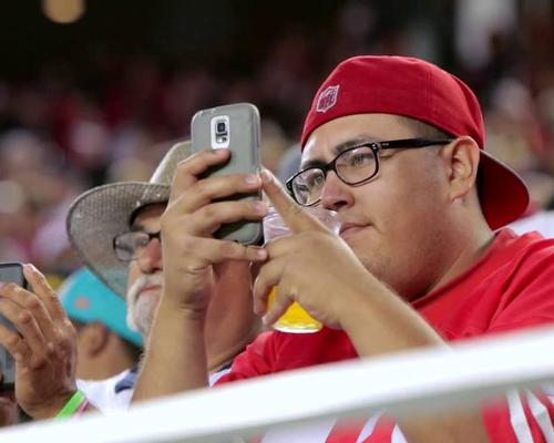 Smartphones can be used within stadiums to display instant replays and match statistics
