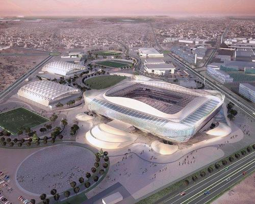 The stadium is planned as a hub for the local community, with the area surrounding it including a mall, an aquatics centre, scenic walkways and a wedding hall / FIFA