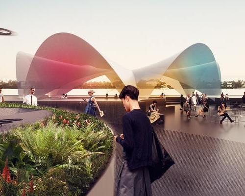 The site will incorporate an organic restaurant with its own hydroponic cultivations, a circular pool, an auditorium and a water plaza / Carlo Ratti Associati