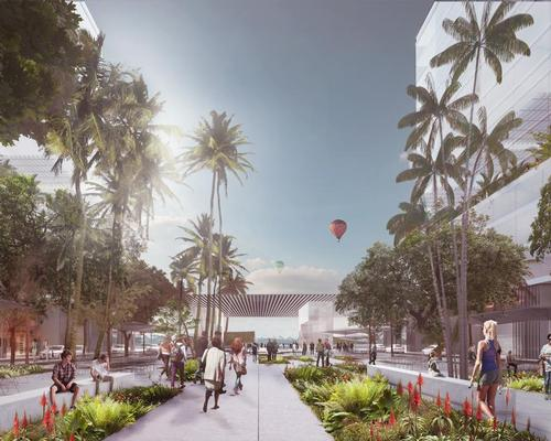 A leafy ramblas will allow people to stroll from the city centre of West Palm Beach directly into the middle of the lagoon / Carlo Ratti Associati